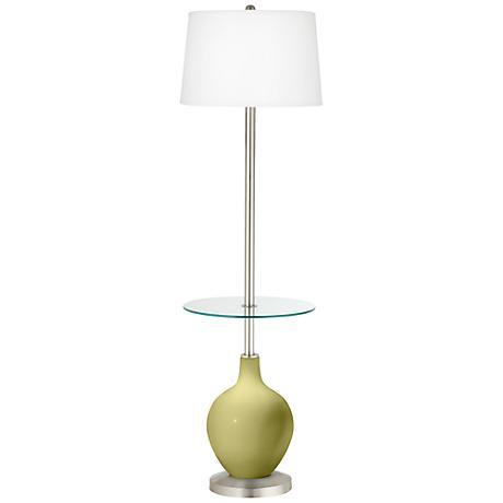 Linden Green Ovo Tray Table Floor Lamp