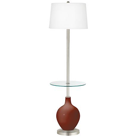 Fired Brick Ovo Tray Table Floor Lamp