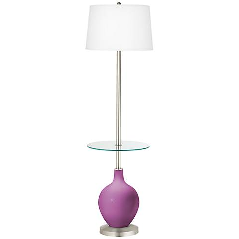 Pink Orchid Ovo Tray Table Floor Lamp