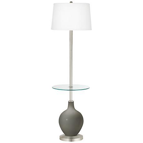 Gauntlet Gray Ovo Tray Table Floor Lamp