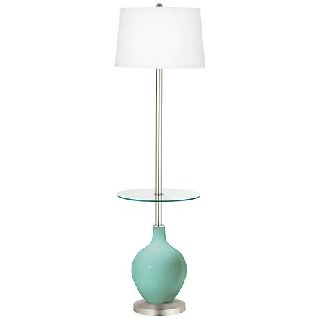 Rapture Blue Ovo Tray Table Floor Lamp