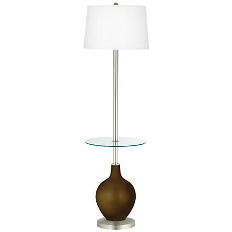 Bronze Metallic Ovo Tray Table Floor Lamp