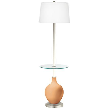 Soft Apricot Ovo Tray Table Floor Lamp