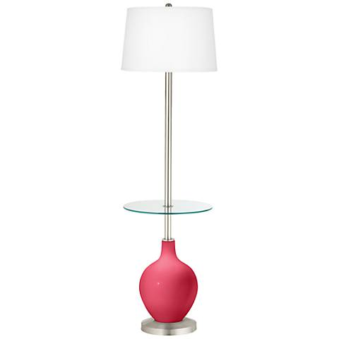 Eros Pink Ovo Tray Table Floor Lamp