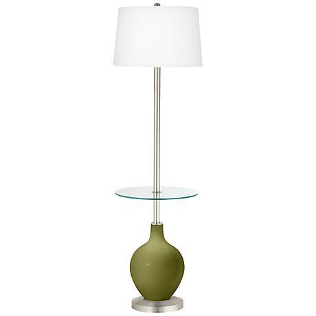 Rural Green Ovo Tray Table Floor Lamp