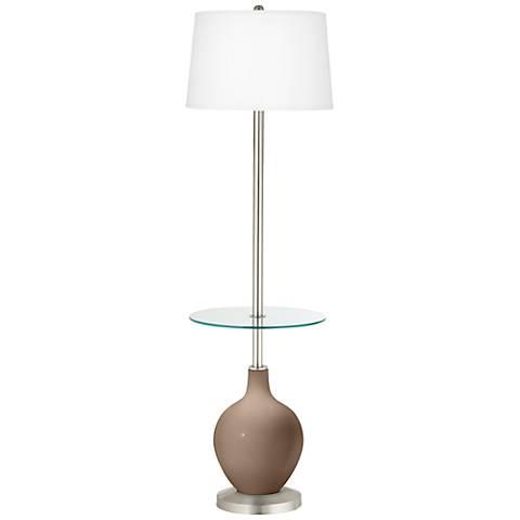 Mocha Ovo Tray Table Floor Lamp