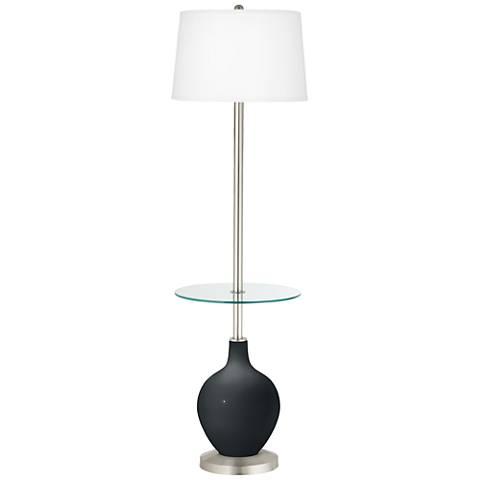 Black of Night Ovo Tray Table Floor Lamp
