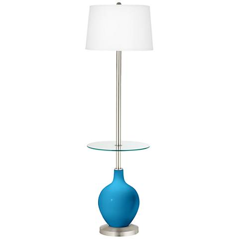 River Blue Ovo Tray Table Floor Lamp