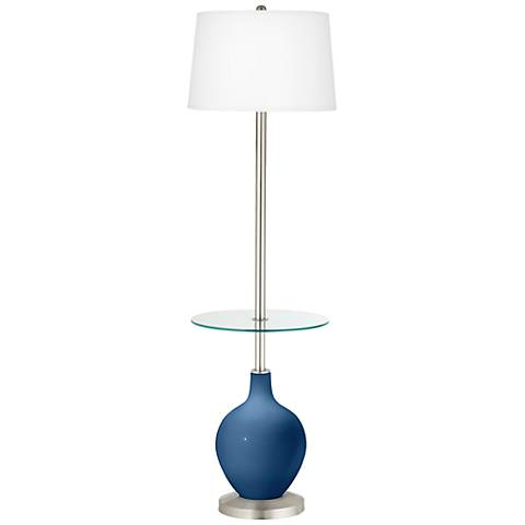 Regatta Blue Ovo Tray Table Floor Lamp