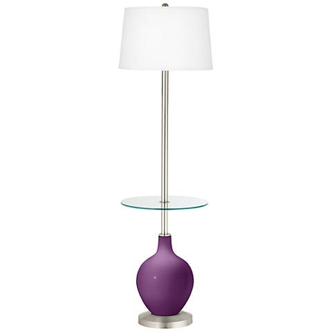 Kimono Violet Ovo Tray Table Floor Lamp