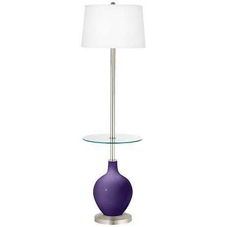 Izmir Purple Ovo Tray Table Floor Lamp