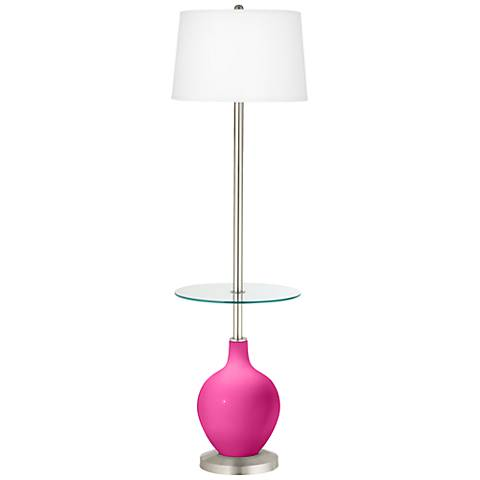 Fuchsia Ovo Tray Table Floor Lamp
