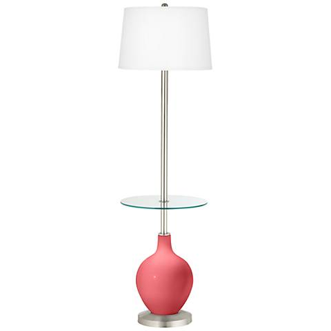 Rose Ovo Tray Table Floor Lamp