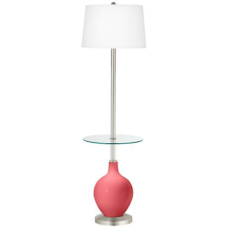 Rose Ovo Tray Table Floor Lamp