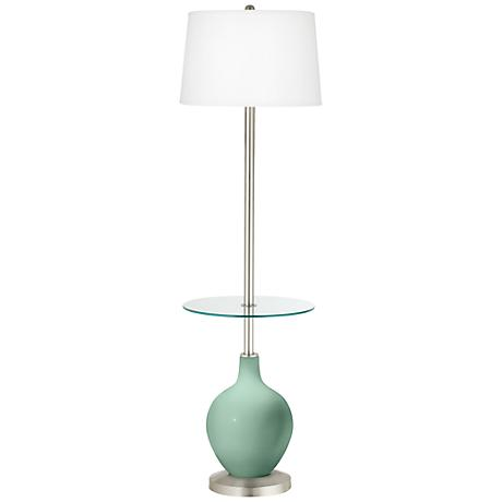 Grayed Jade Ovo Tray Table Floor Lamp
