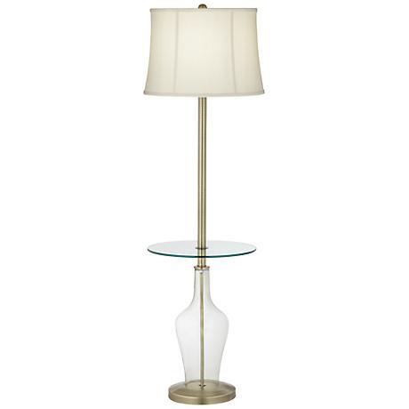 Clear Fillable Anya Tray Table Floor Lamp