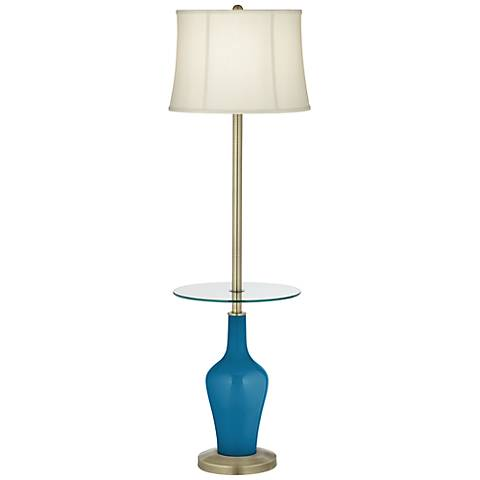 Mykonos Blue Anya Tray Table Floor Lamp