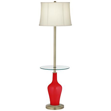 Bright Red Anya Tray Table Floor Lamp