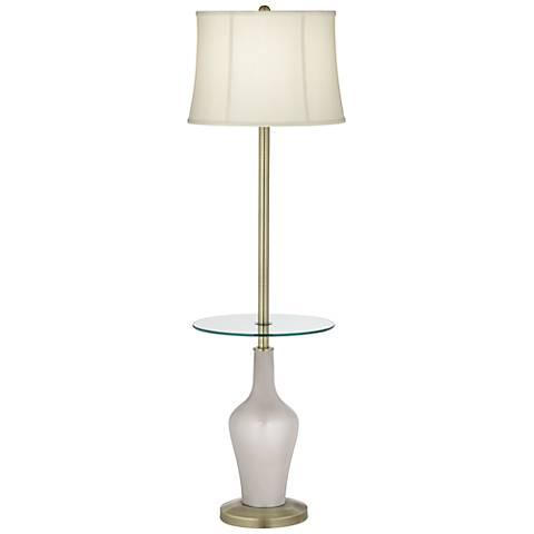 Silver Lining Metallic Anya Tray Table Floor Lamp
