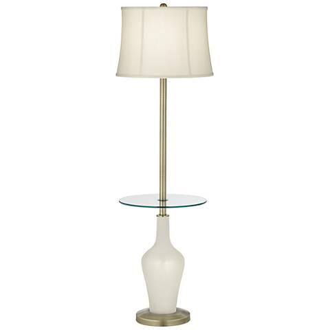 Vanilla Metallic Anya Tray Table Floor Lamp