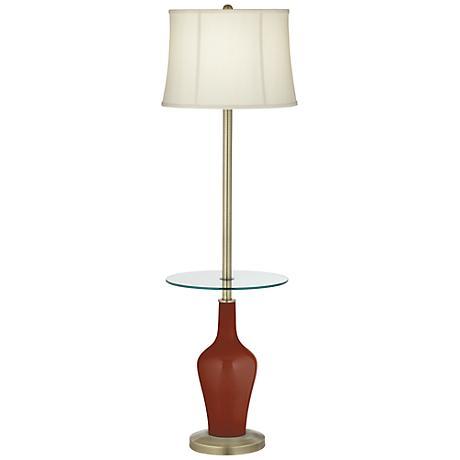 Fired Brick Anya Tray Table Floor Lamp