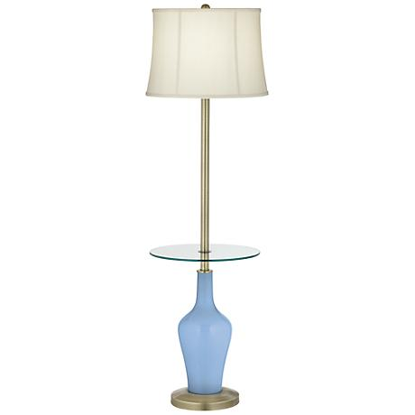 Placid Blue Anya Tray Table Floor Lamp