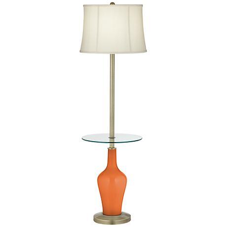 Celosia Orange Anya Tray Table Floor Lamp