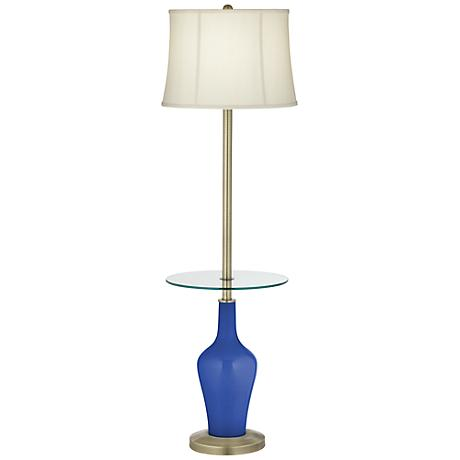 Dazzling Blue Anya Tray Table Floor Lamp