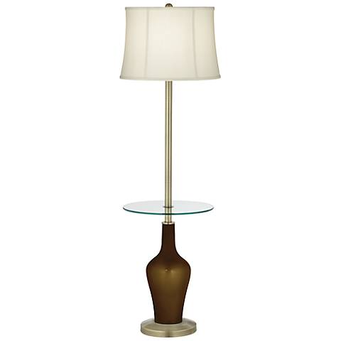 Bronze Metallic Anya Tray Table Floor Lamp