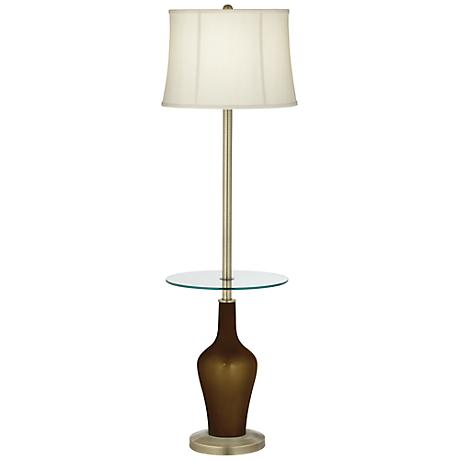 Bronze Metallic Anya Tray Table Floor Lamp