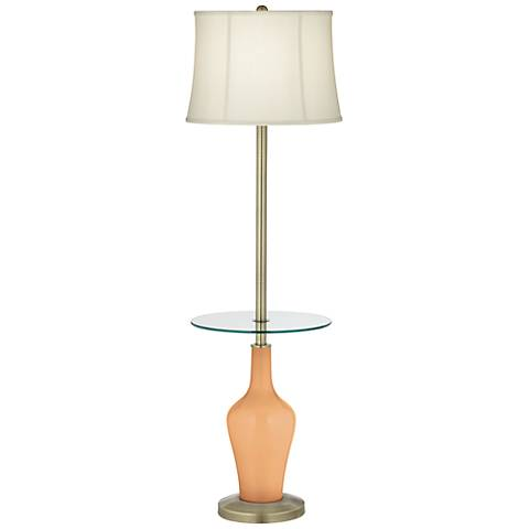 Soft Apricot Anya Tray Table Floor Lamp