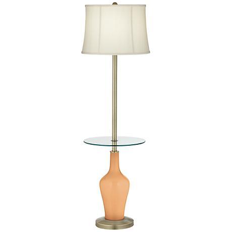 Soft Apricot Anya Tray Table Floor Lamp