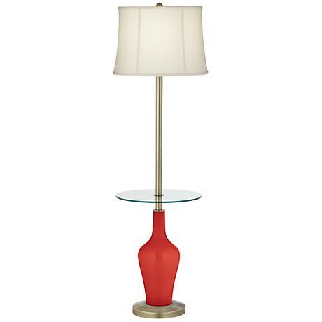 Cherry Tomato Anya Tray Table Floor Lamp