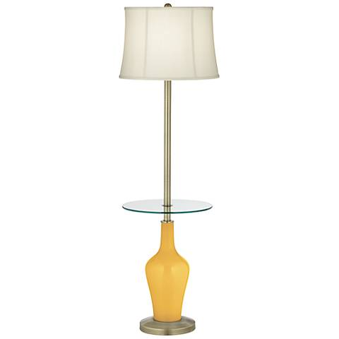 Goldenrod Anya Tray Table Floor Lamp