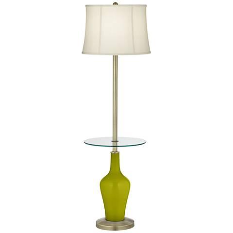 Olive Green Anya Tray Table Floor Lamp