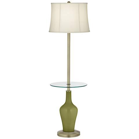 Rural Green Anya Tray Table Floor Lamp