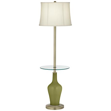 Rural Green Anya Tray Table Floor Lamp