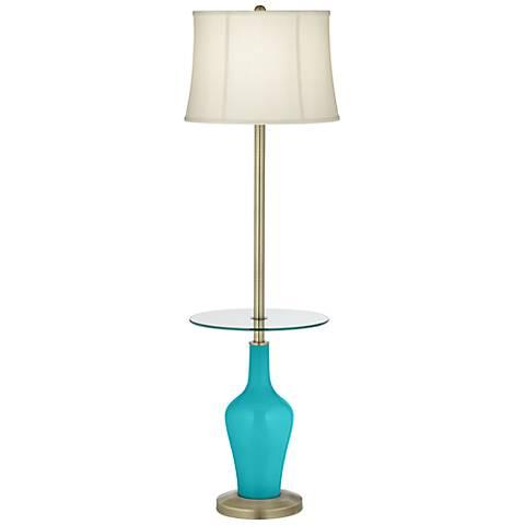 Surfer Blue Anya Tray Table Floor Lamp