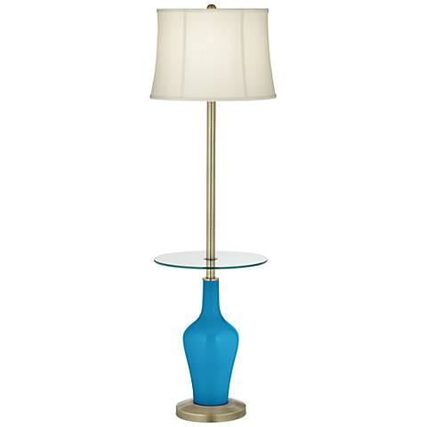 River Blue Anya Tray Table Floor Lamp