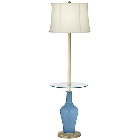 Secure Blue Anya Tray Table Floor Lamp