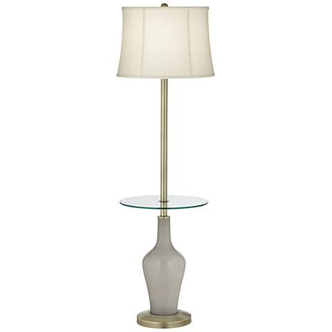 Requisite Gray Anya Tray Table Floor Lamp