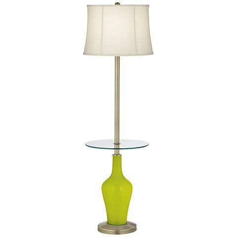 Pastel Green Anya Tray Table Floor Lamp