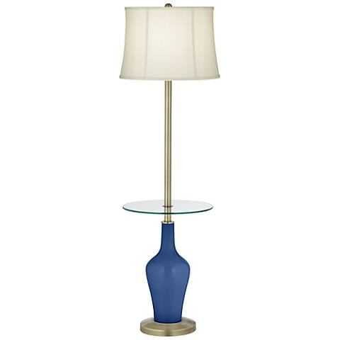 Monaco Blue Anya Tray Table Floor Lamp