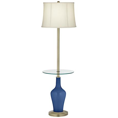 Monaco Blue Anya Tray Table Floor Lamp