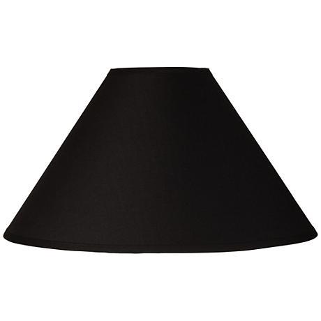 Black Chimney Empire Lamp Shade 6x19x12 (Spider)