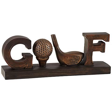 Fairway Bronze Golf Decorative Accent
