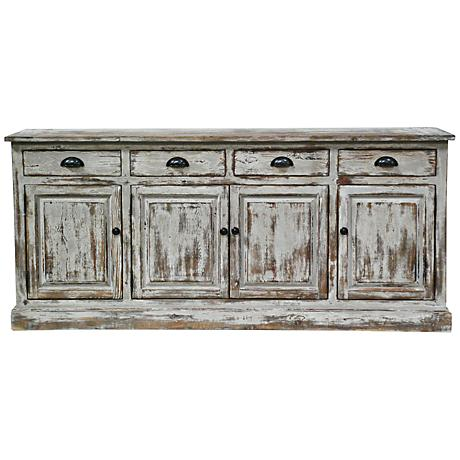 Windsor Distressed White Sideboard