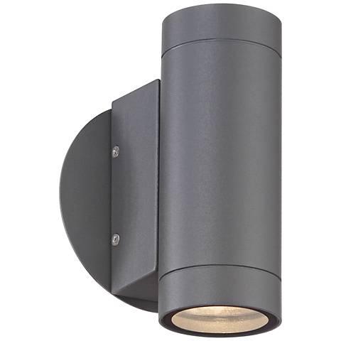 Possini Euro Design Matte Graphite Up and Down Wall Light