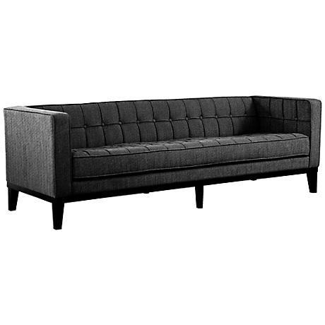 Roxbury Charcoal Chenille Sofa