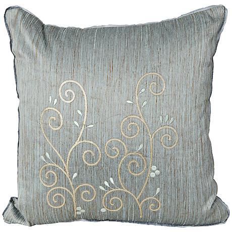 "Neera 17"" Square Light Blue Decorative Throw Pillow"